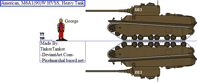 (ALT) American, M6A1(90)W HVSS, Heavy Tank by TinkerTanker44432