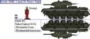(ALT) Soviet, SMK-1 mod.39, Heavy Tank by TinkerTanker44432