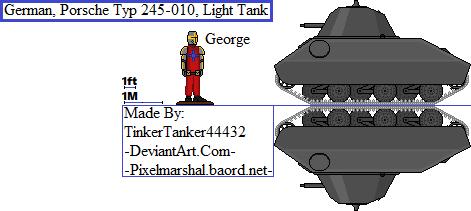 (HIST) German, Porsche Typ 245-010, Light Tank by TinkerTanker44432