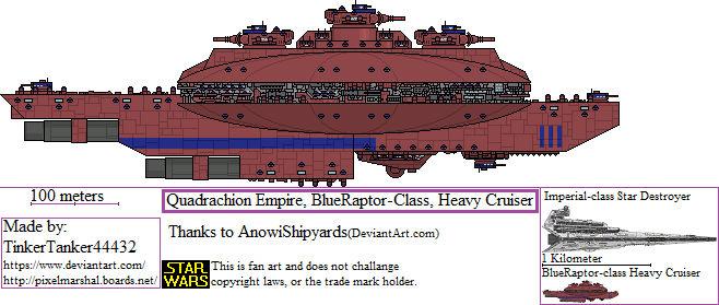 (ALT SW) Quadrachion Empire, BlueRaptor-class, HC