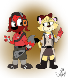 Tom and Star - Team Fortress 2 by Jeremy-the-Blockhead