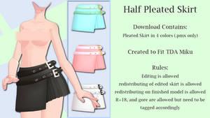 MMD Half Pleated Skirt DL