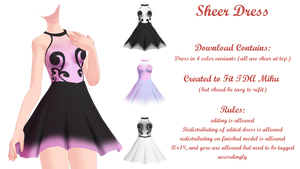 MMD Sheer Dress DL by Arneth-Myndraavn