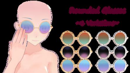 MMD Round Glasses DL