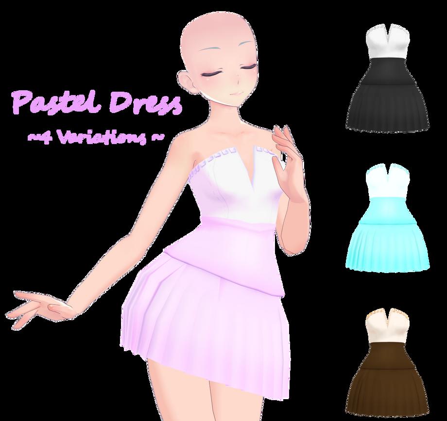 MMD Pastel Dress DL by Arneth-Myndraavn on DeviantArt