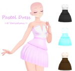 MMD Pastel Dress DL