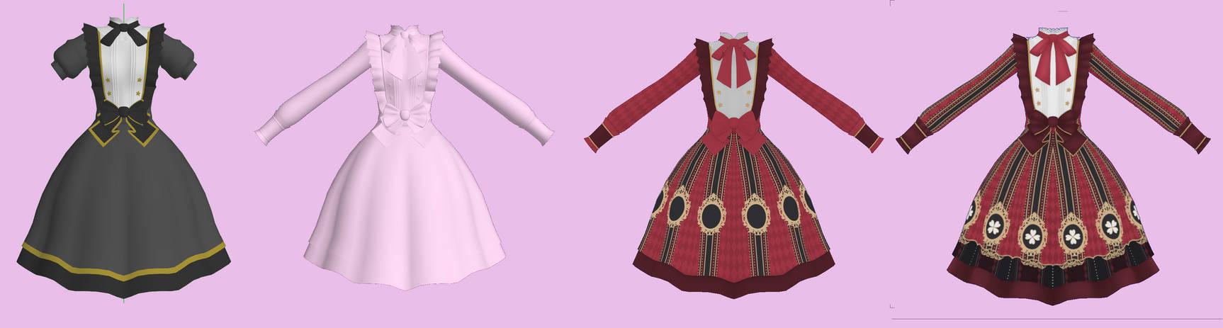 MMD Lolita Dress [WIP] Progress