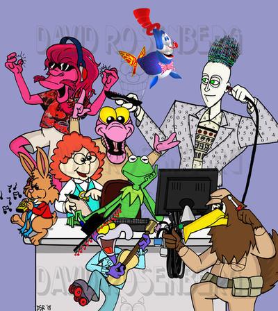 The Jim Henson Hour Cast by Gonzocartooncompany