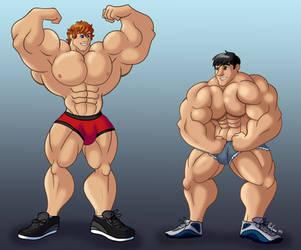 Muscle Dudes Commission by Penn92Evans