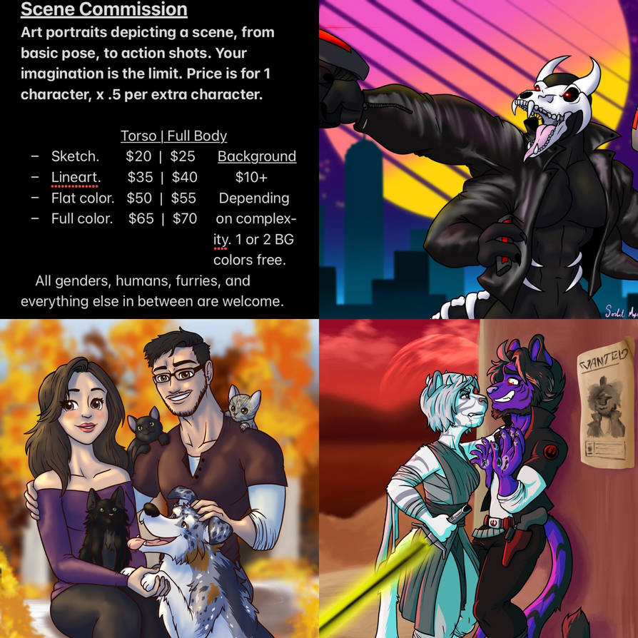 Updated Portrait Commission Prices