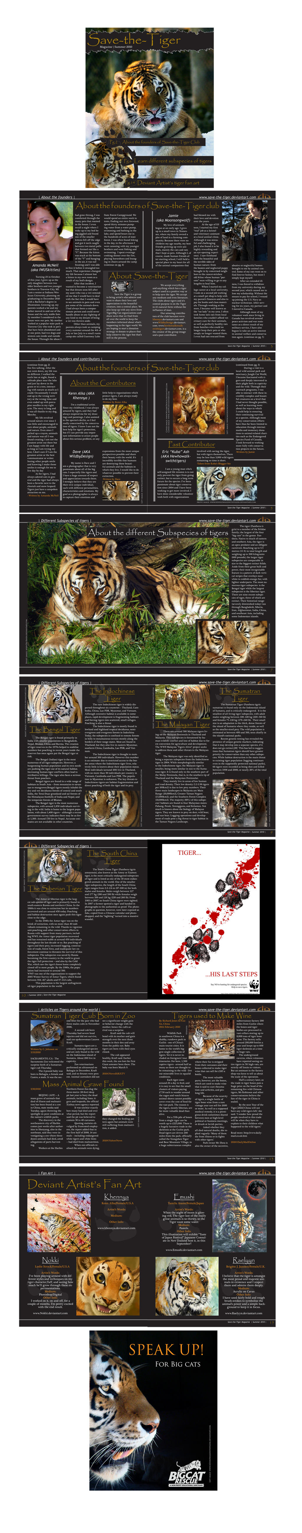 Save the tiger magazine by amandas-sketches
