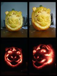 Tiger Pumpkin 2011 by amandas-sketches