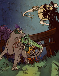 Amaterasu vs Orochi- Okami