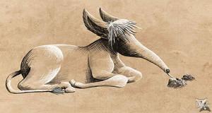 Donkey-anteater - Cloud inspiration