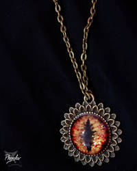 Cabochon - Dragon eye pendant