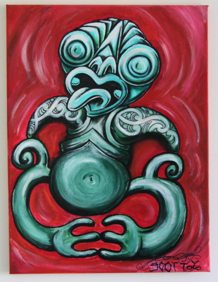 Traditional Maori Art: Maori Tiki By Scottyleesmith On DeviantArt