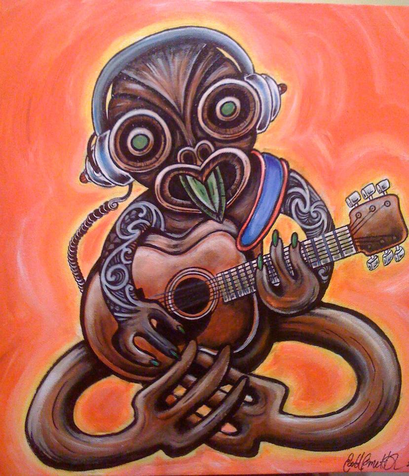 Maori Tattoo Designs Wallpaper: Maori Guitar Tiki By Scottyleesmith On DeviantArt