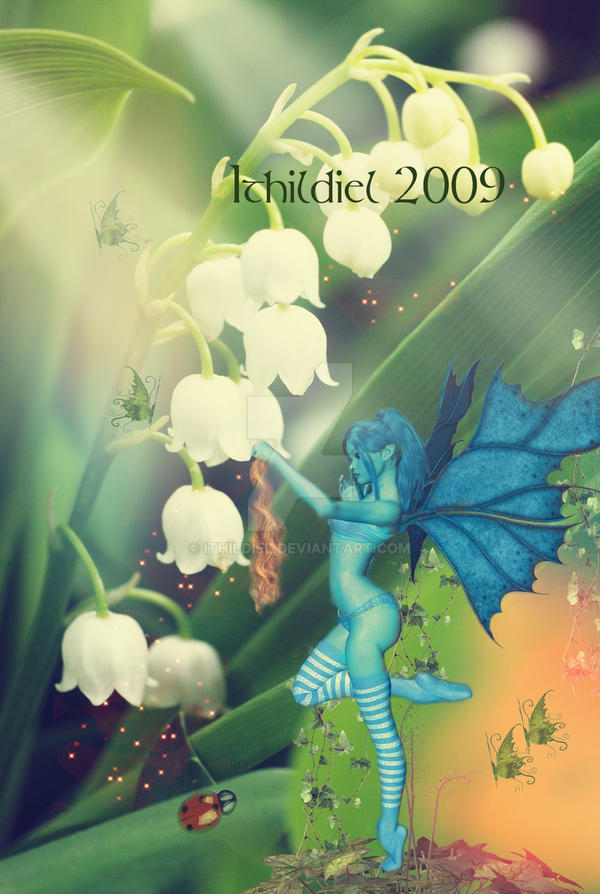 A blue fairy by Ithildiel