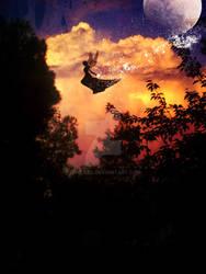 fairy in flight