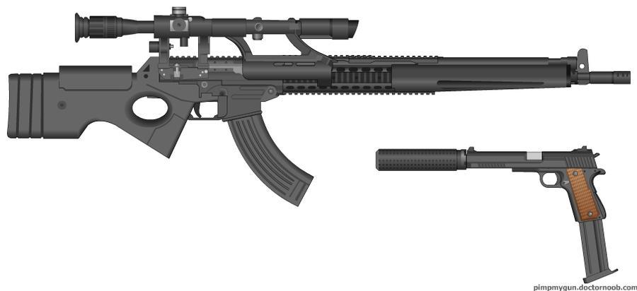 sniper kit (eagle eye mk2 and silenced m1911) by tank0421 ... M1911 Silenced