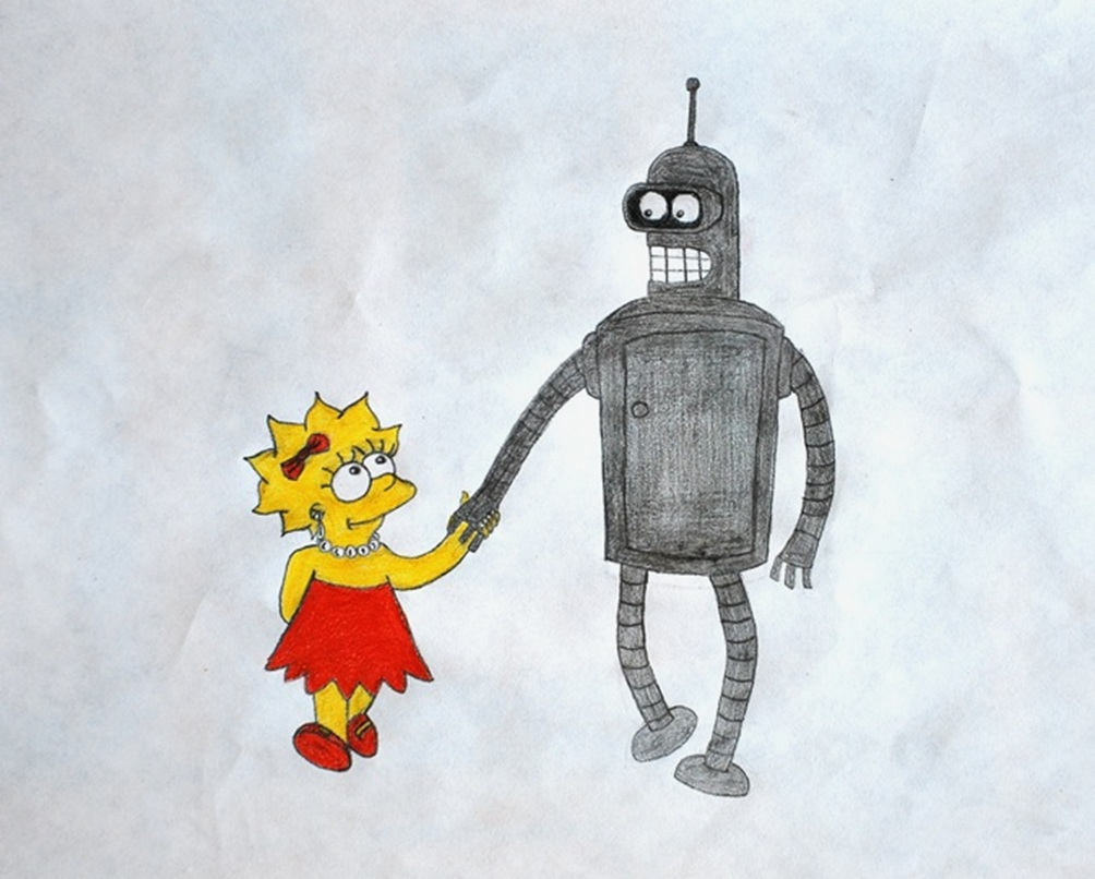 Lisa and Bender by GladiatorRomanus