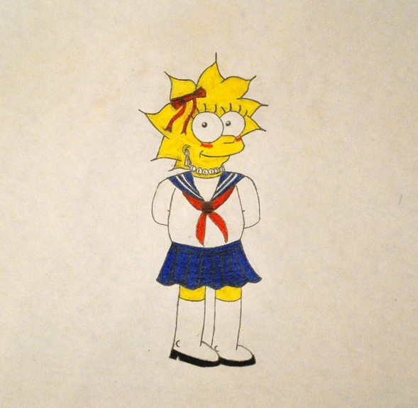 Lisa with a school uniform by GladiatorRomanus