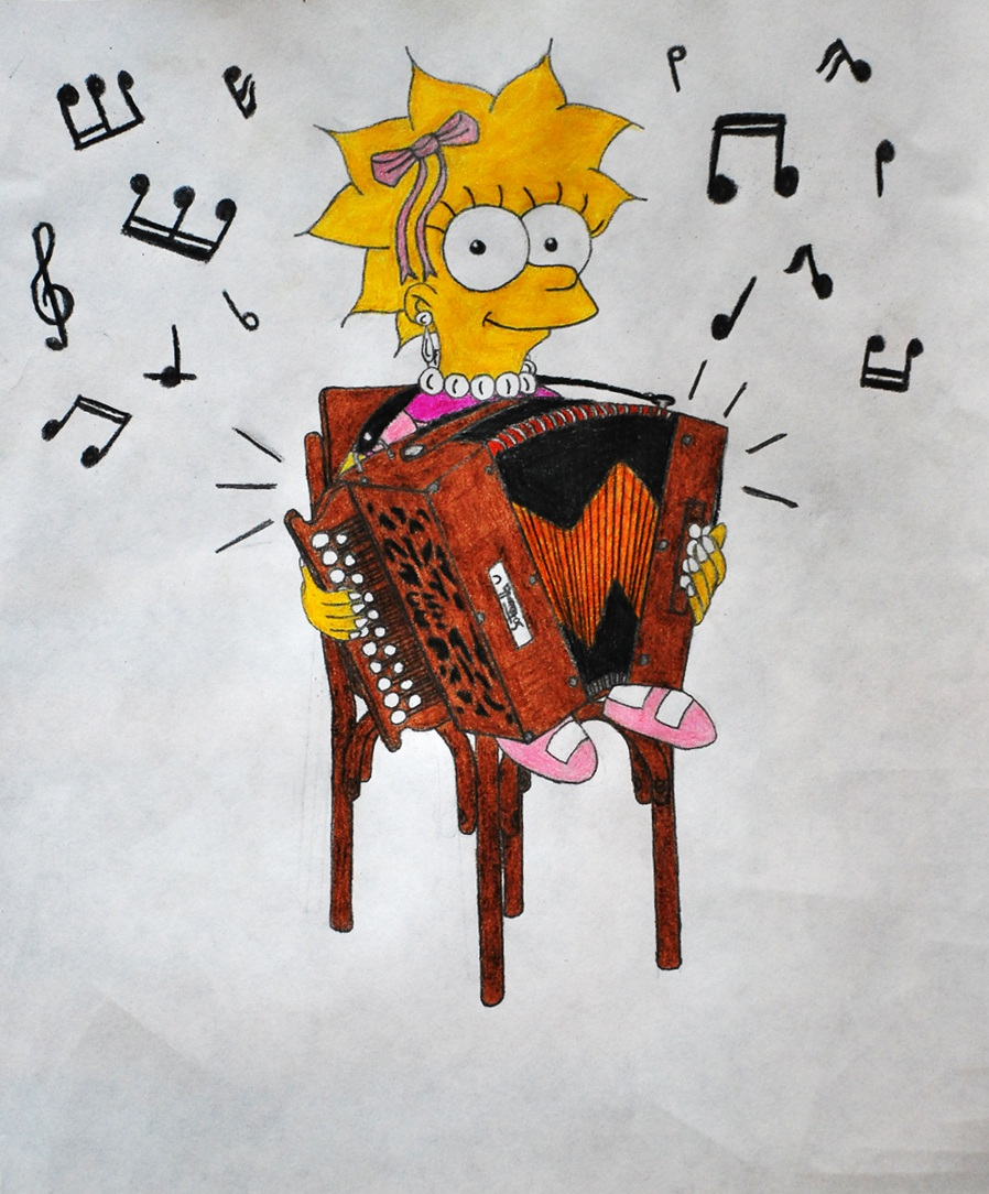 Lisa plays the Accordion by GladiatorRomanus