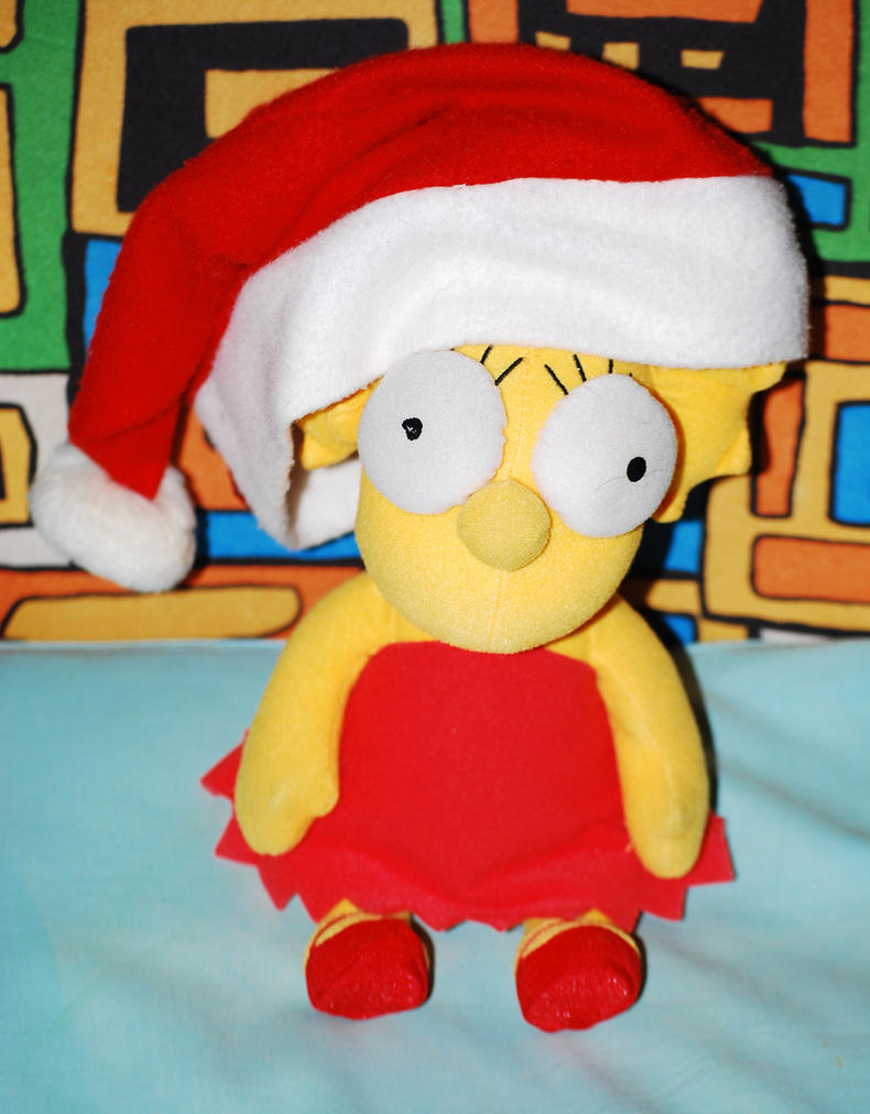 Lisa with the Christmas hat by GladiatorRomanus