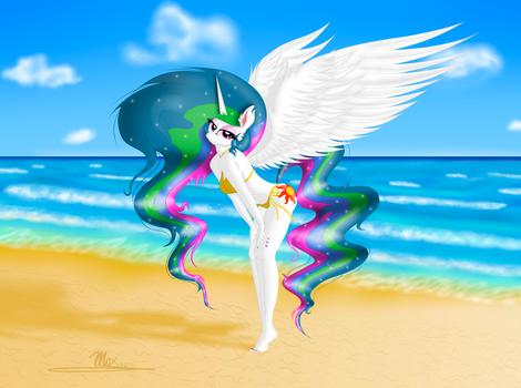 Celestia at the beach