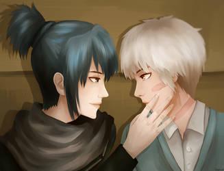 Nezumi and Shion by merue