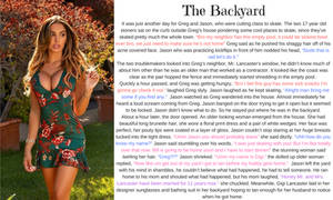 The Backyard TG Caption (TG, AP) by hashtagwoke