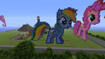 Rainbow Dash Made In Minecaft