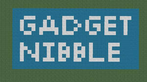 Gadget Nibble Logo Made In Minecraft