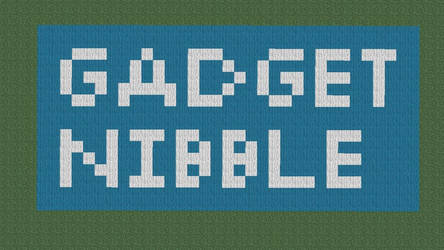 Gadget Nibble Logo Made In Minecraft by ty7711