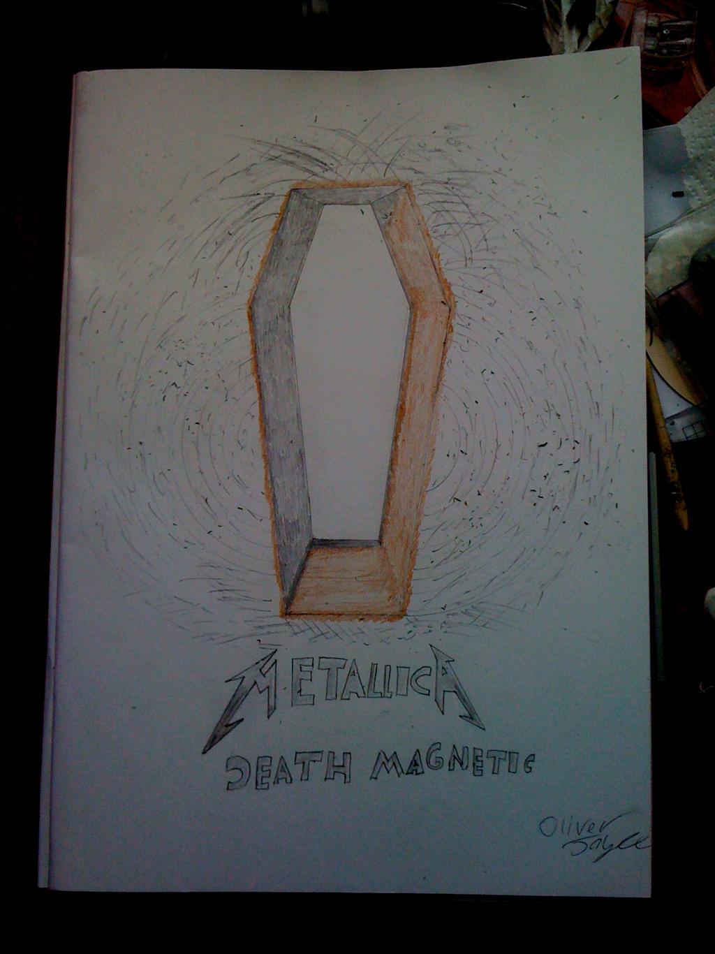 Metallica Death Magnetic Album Cover Fan Art by ty7711