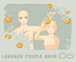 Laranja couple Base by Misa-pixels