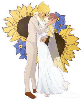 The Sunflower and Forget me Not