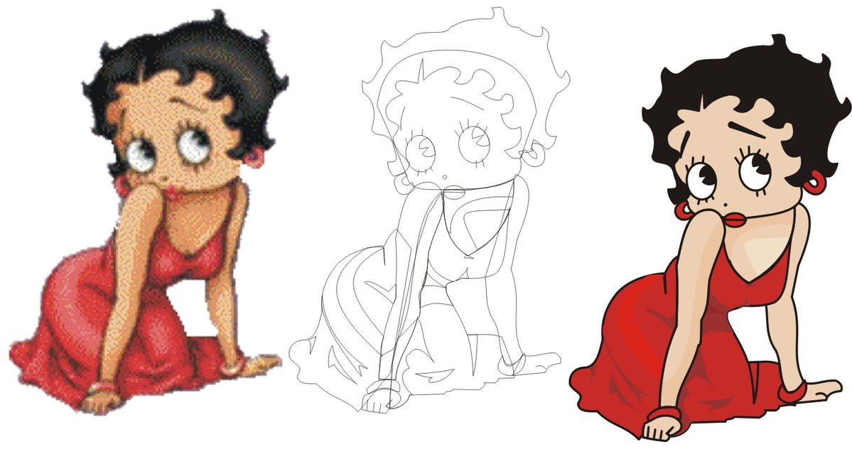 how to draw betty boop