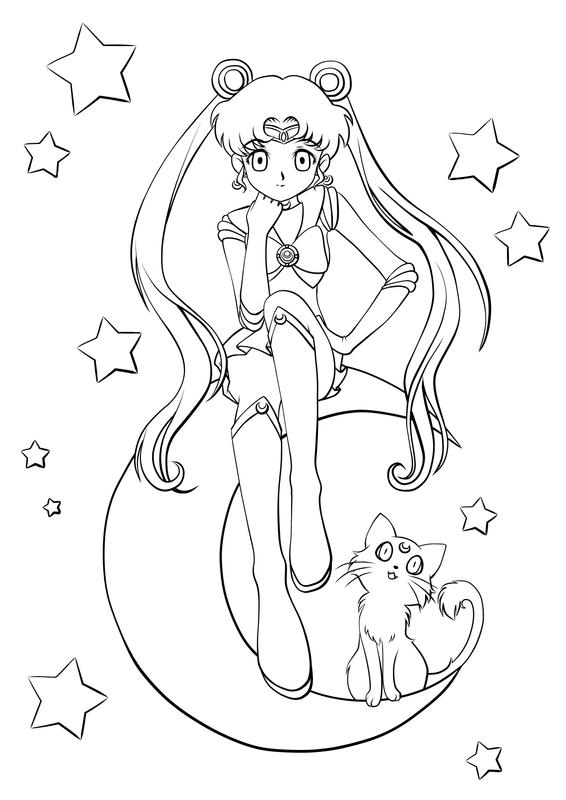 Sailor Moon lineart by Cheila on