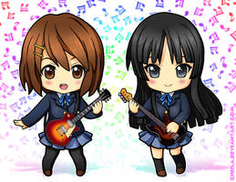 K-ON Yui and Mio by Cheila