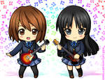 K-ON Yui and Mio
