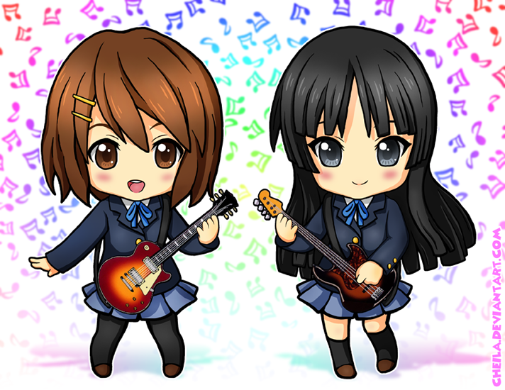 K ON Yui And Mio By Cheila