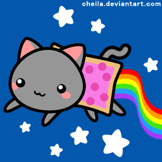 Nyan Cat cuteness overload by Cheila