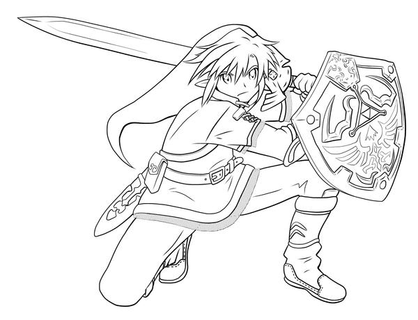 Line Art Zelda : Link lineart by cheila on deviantart