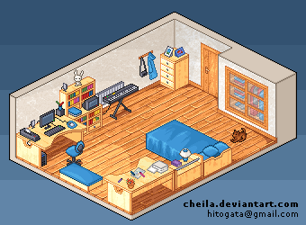 My room in pixels by Cheila