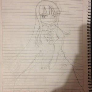 Kaguya hand drawing