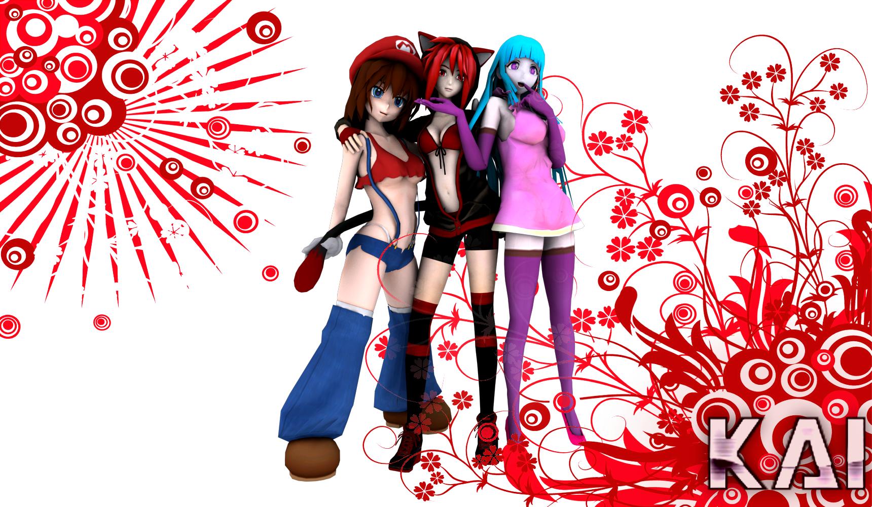 Mary, Ryusei and Meme