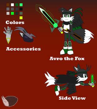 Avro the Fox Reference Sheet by RagingFurry