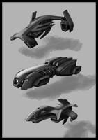 Futuristic vehicles by Jutami