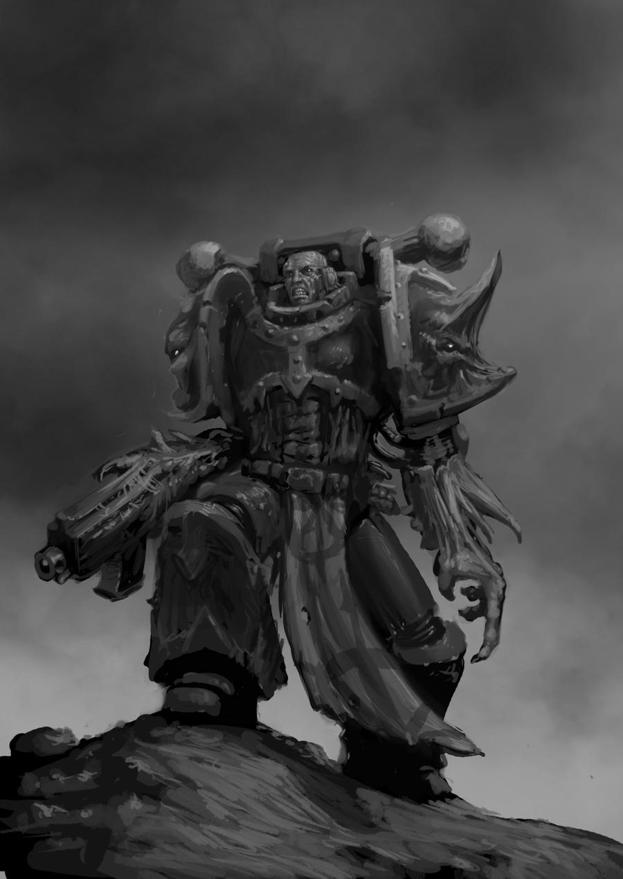 [W40K] Collection d'images : Space Marines du Chaos - Page 2 Chaos_space_marine_4_by_jutami-d4ezd4t